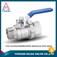 high pressure brass ball valve 600 wog plating male threaded connection hydraulic motorize manual power CE approved full port