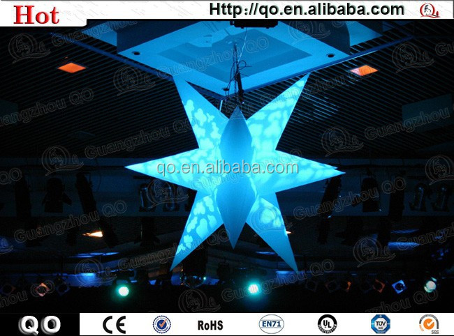 Personalized customized wedding inflatable star for hall decoration
