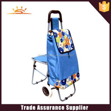 2015 new design fasion trolley travel bag with chair