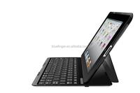 Best seller Aluminum Bluetooth keyboard case for iPad234 with 7 color backlit keys