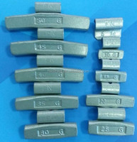 Steel made clip on wheel balancing weight for aluminum rim