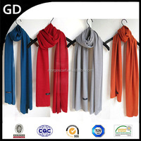 GDK0011 Wholesale lady scarf custom design women's plain dyed europe cotton flannel scarf