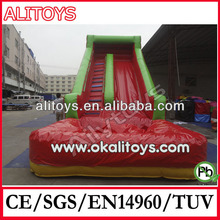 giant red color inflatable wet slide inflatable water slide for sale