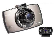 2.7 Inch LCD 1080P Full HD Dual Lens Rearview Reversing Car Dashboard Camera