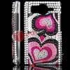 Loving Heart Bling Diamond desigh back case for htc desire hd a9191