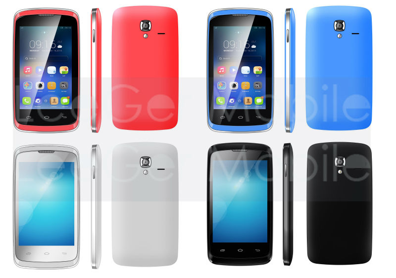 Manufacturer factory price 3.5 Inch IPS screen ultra slim android cell phone MTK6572 dual core GPS WIFI 3G android cell phone