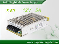 Metal case 60w contant voltage single output voltage 5a power supply 12v smps