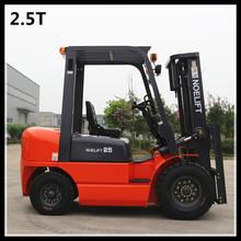 orange color 2500kg capacity diesel engine powered fork lifters