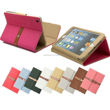 Hight quality belt clip wholesale leather case for ipad 2/3/4