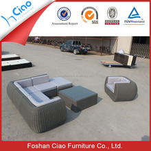 Unique shape sofa outdoor rattan sectional sofa garden furniture