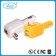 2014 New Arrival Factory Supply purchase in china for particular 2 in 1 car charger for mobile phone