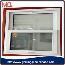 fashionable pvc vertical sliding window,double glaze window for villa