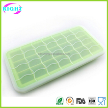 Food grade ice tray silicone ice cube mold with lid