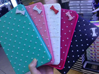 For ipad air pearl flip leather case,for ipad 5 cute bow phone cover with card slot