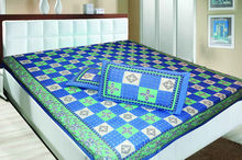 jaipur traditional double bedsheet and 2 pillow covers with box packing.