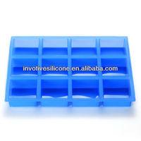 Alibaba Supplier FDA Standard 12 Cups Square Silicone Cake Mould