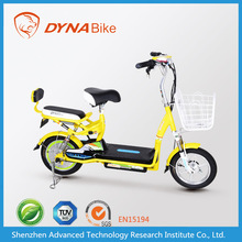 Lightweight bright adult 2 wheel electric motorized bike / electric vehicle with storage battery