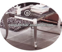 Nice Stainless steel legs marble top tea table LH-817B