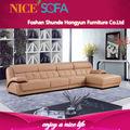 2014 sofá novo design de mobiliário sofá de canto de couro a822l