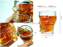 wholesale 4pcs Small Crystal Skull Head Shot Glass Whisky Beer Wine Drinking Ware