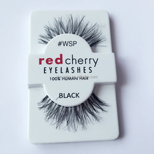 Private lable red cherry 100% human hair lashes