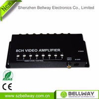 Auto/Car 1 to 8 Output Video Monitor Signal Amplifier Booster