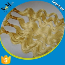Silky Straight Wave hair extension micro beads curly for wholesales