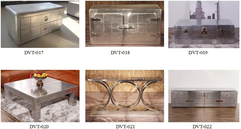 Union jack industrielle vintage style table de bureau en aluminium