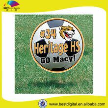 football round yard signs printed