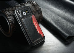 2015 leather phone case for Samsung Galaxy S6/cell phone cover manufacturer/for samsung galaxy s6 card holder case