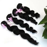 Brazilian Virgin Hair Loose Wave Rosa Hair Products 4PCS/Lots Grade 6A Unprocessed Human Hair Extension