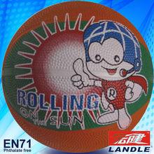 rubber or leather customers design orange mini size basketball