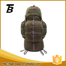 Hot selling sport hiking climbing backpack gray nylon mountaineering backpack