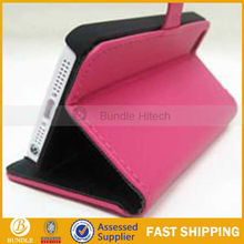 Cross Pattern Leather Case For iPhone 5 5G with stand function