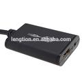 Usb 2.0 hdmi a dvi convertidor de hdtv 1080p proyector 3.5mm cable de audio para pc