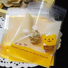 self-adhesive opp cello bag for DIY cookies