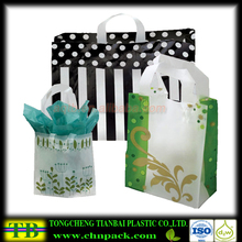 customized Soft Loop Handle Packaging Plastic Bag for shopping