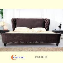 hot sale modern fabric bed elegant