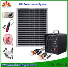 Hot Selling Portable 5W4A solar home Panel kit