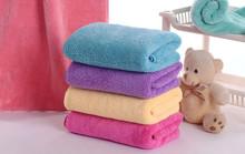 2015 new design dual side thick plush microfiber towel