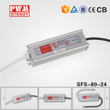 high efficiency 0-10v constant voltage dimming led switching power 80w 24v led driver supply