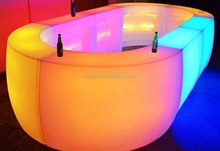 IP44 rechargeable led bar furniture outdoor lighted bar counter