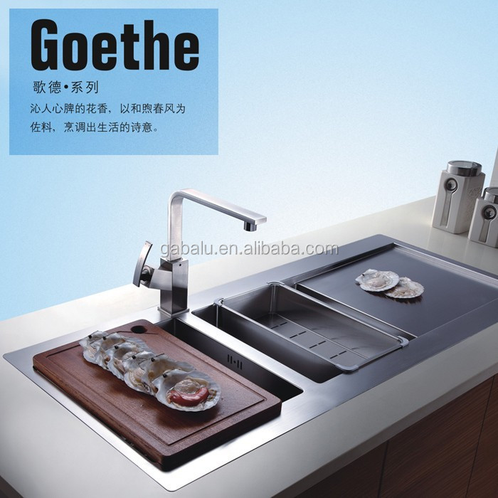 6204 hot selling newest different types kitchen sinks for Different types of sinks