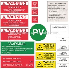 manufacturer price solar label solar warning kit