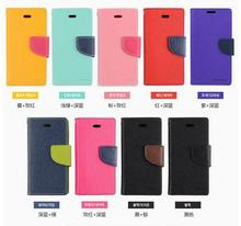 Double colors Stand Wallet Cases For Samsung Galaxy S4 mini I9190/ With Card Slot PU Leather Case