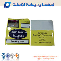 20g 50g hand rolling empty tobacco pouches with zip lock