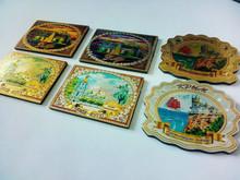 Custom travel metal foil souvenir fridge magnet