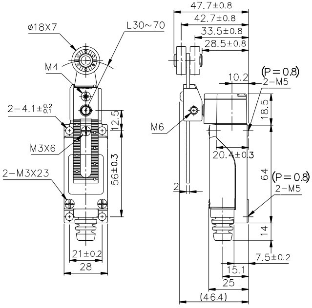 tend brand limit switch model tz8108