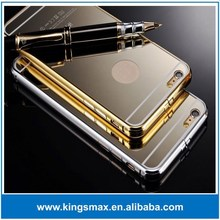 New Luxury Aluminum Ultra-thin Mirror Metal Case for iPhone 6, Metal Bumper Case For iPhone 6