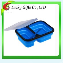 Food Grade High Quality Wholesale Silicone Folding Lunch Box